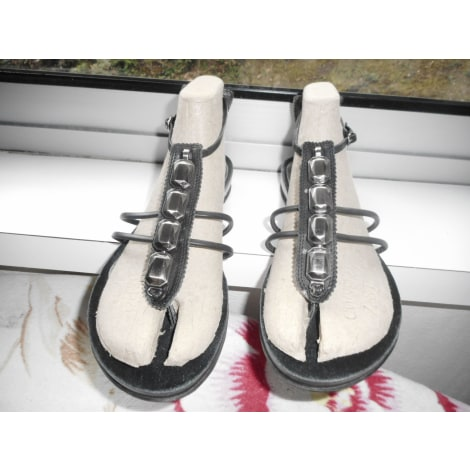 Sandales plates  NINE WEST Noir