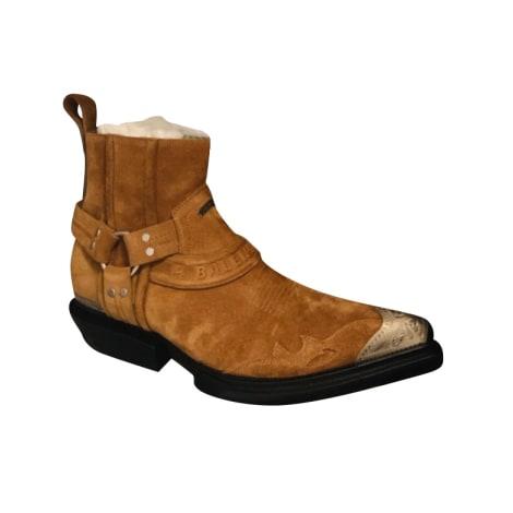 Biker Ankle Boots BALENCIAGA Beige, camel