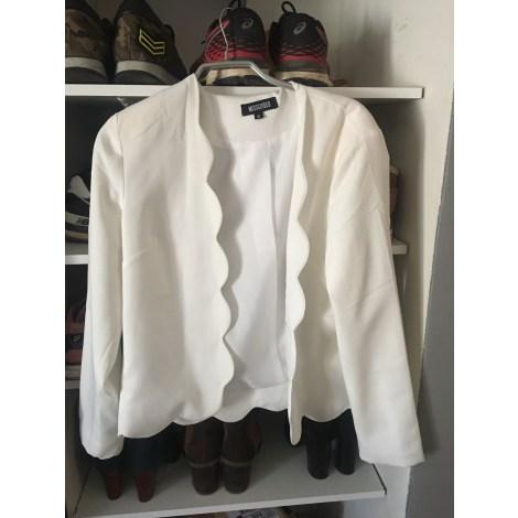 Blazer, veste tailleur MISSGUIDED Blanc, blanc cassé, écru