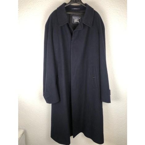 Manteau BURBERRY Bleu, bleu marine, bleu turquoise