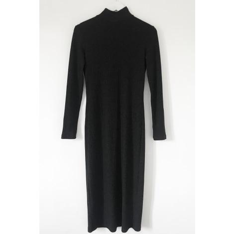 Robe mi-longue MANGO Gris, anthracite