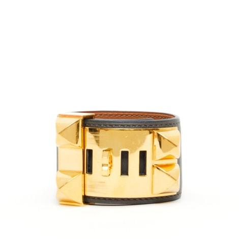 Bracelet HERMÈS Collier de Chien Gris, anthracite