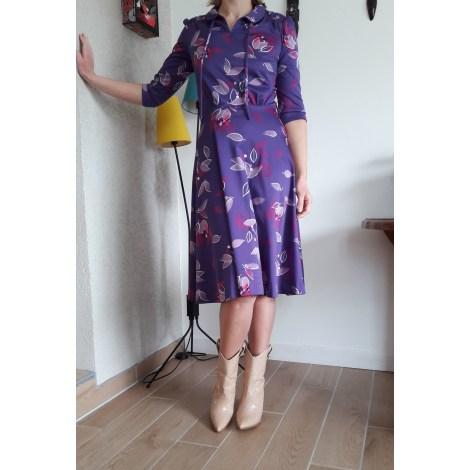 Robe mi-longue VINTAGE Violet, mauve, lavande