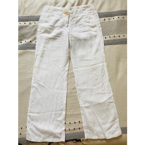 Pantalon large HARTFORD Blanc, blanc cassé, écru