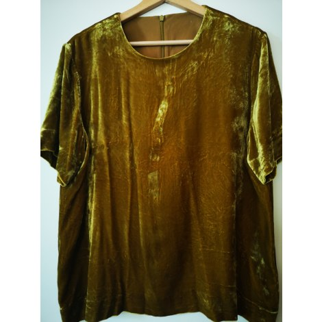 Top, tee-shirt COS Doré, bronze, cuivre