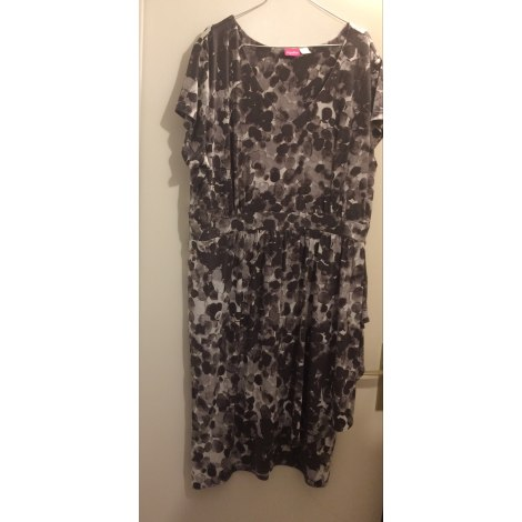 Robe mi-longue TOGETHER Gris, anthracite