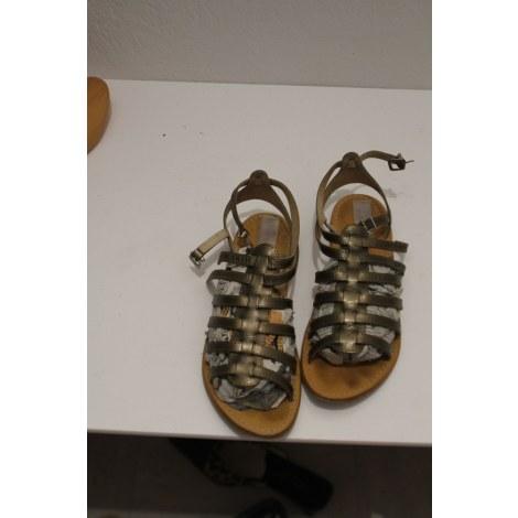 Sandales plates  LES TROPÉZIENNES PAR M. BELARBI Argenté, acier