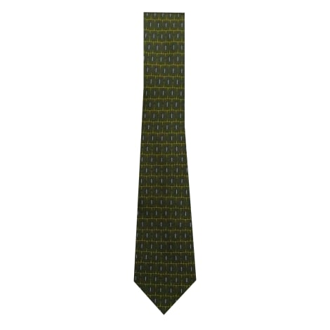 Cravate HERMÈS fond vert
