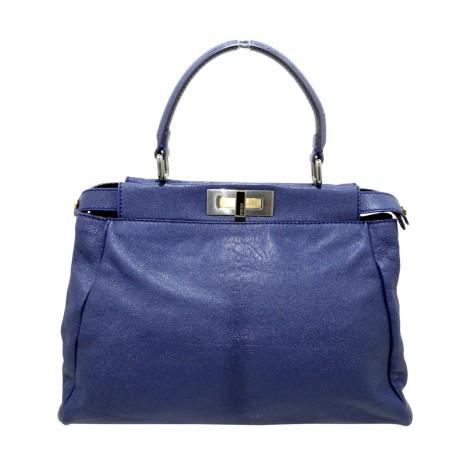 Lederhandtasche FENDI Blau, marineblau, türkisblau