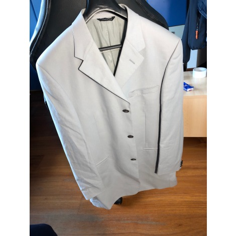 Jacket VERSACE White, off-white, ecru