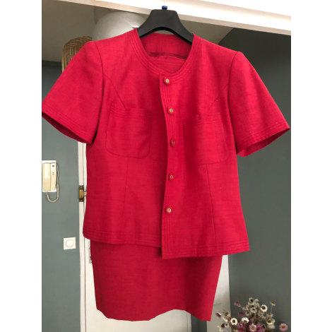 Tailleur jupe BLEU 123 Rouge, bordeaux