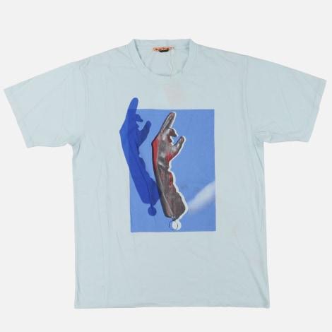 Tee-shirt ACNE Bleu, bleu marine, bleu turquoise