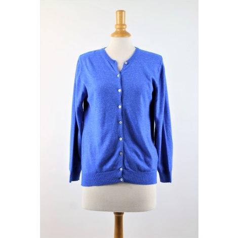 Gilet, cardigan CASHMERE Bleu, bleu marine, bleu turquoise