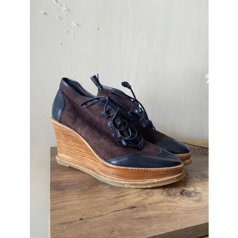 Bottines & low boots à compensés COMPTOIR DES COTONNIERS Bleu, bleu marine, bleu turquoise