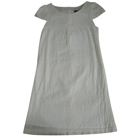 Robe courte TARA JARMON Blanc, blanc cassé, écru