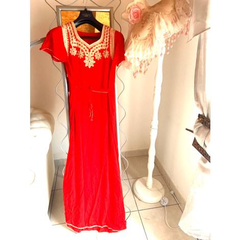 Robe longue HAJER Rouge, bordeaux