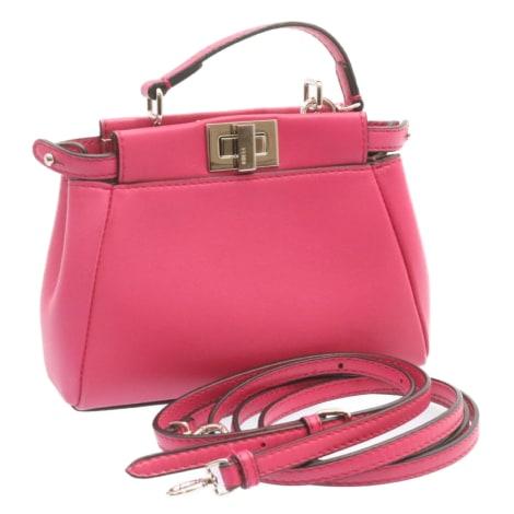 Lederhandtasche FENDI Pink,  altrosa