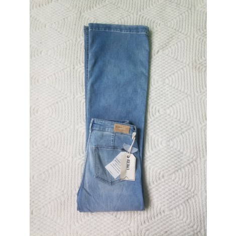 Jeans évasé, boot-cut REIKO Bleu, bleu marine, bleu turquoise