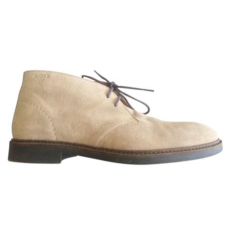 Chaussures à lacets AIGLE Beige, camel