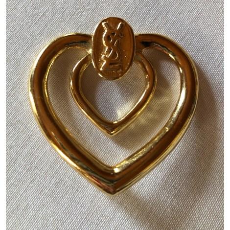 Bague YVES SAINT LAURENT Doré, bronze, cuivre