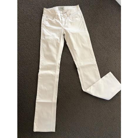 Pantalon droit SCHOOL RAG Blanc, blanc cassé, écru