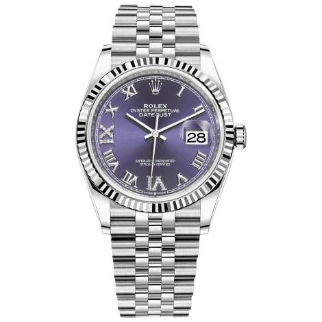 Armbanduhr ROLEX DATEJUST Violett, malvenfarben, lavendelfarben