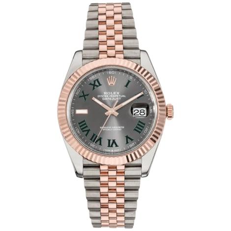 Armbanduhr ROLEX DATEJUST Grau, anthrazit