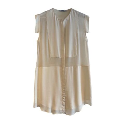 Robe courte ALEXANDER WANG Blanc, blanc cassé, écru