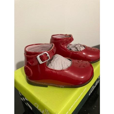 Chaussures à boucle ASTER Rouge, bordeaux