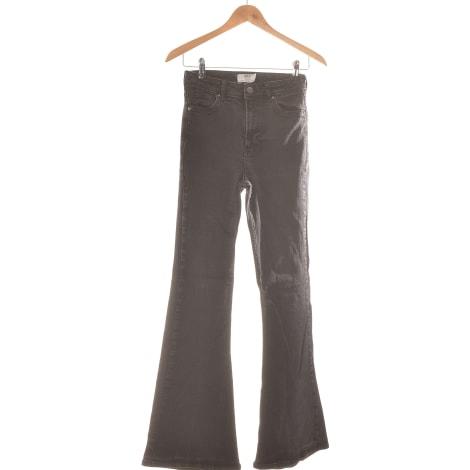 Jeans évasé, boot-cut BERSHKA Noir