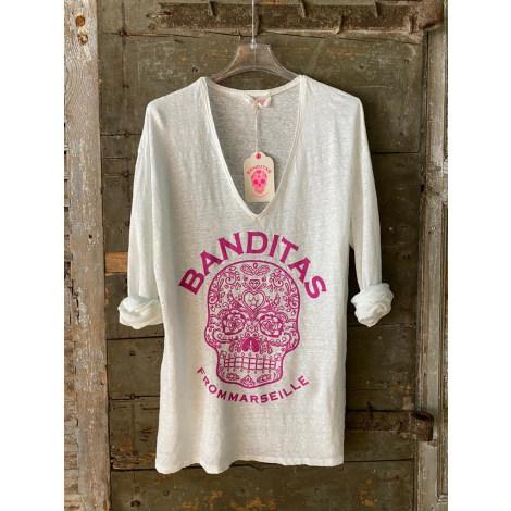 Top, tee-shirt BANDITAS Blanc, blanc cassé, écru