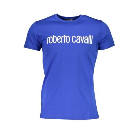 Tee-shirt ROBERTO CAVALLI Bleu, bleu marine, bleu turquoise