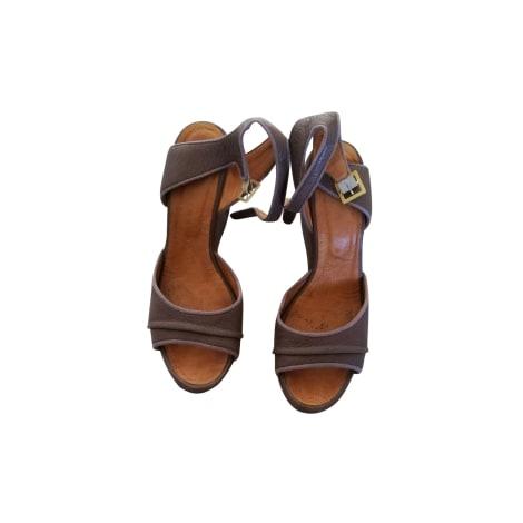 Sandales compensées CHIE MIHARA Beige, camel
