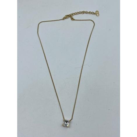 Pendentif, collier pendentif DIOR Doré, bronze, cuivre