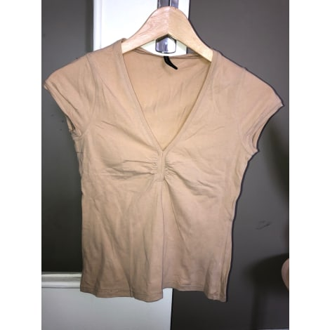 Top, tee-shirt NAF NAF Beige, camel