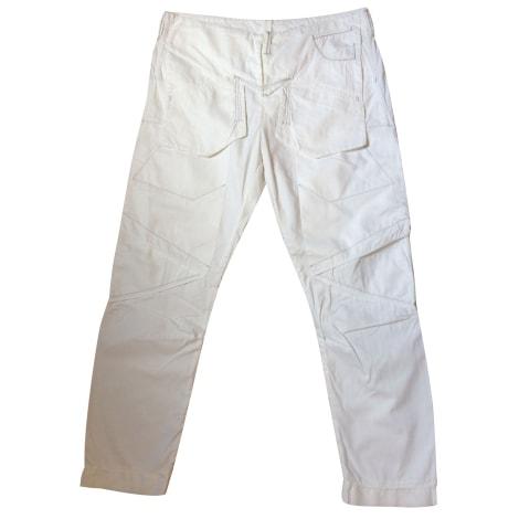 Pantalon droit MARITHÉ ET FRANÇOIS GIRBAUD Blanc, blanc cassé, écru