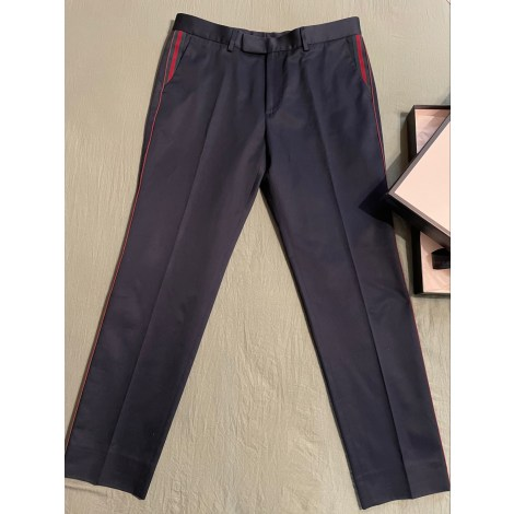 Slim Fit Pants GUCCI Blue, navy, turquoise