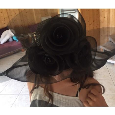 Chapeau de mariage PRINTEMPS Noir
