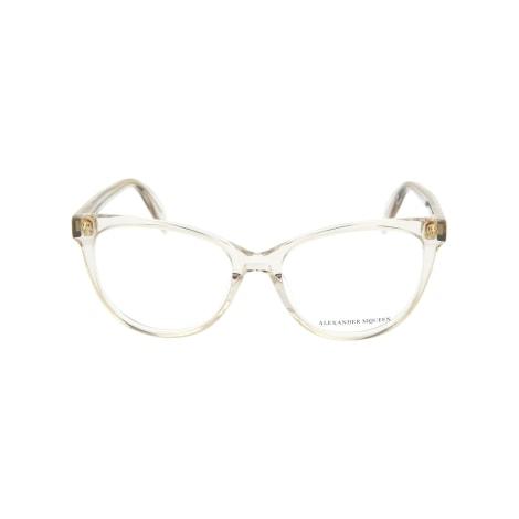 Eyeglass Frames ALEXANDER MCQUEEN Beige, camel