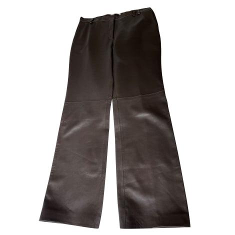Pantalon droit JIL SANDER Marron