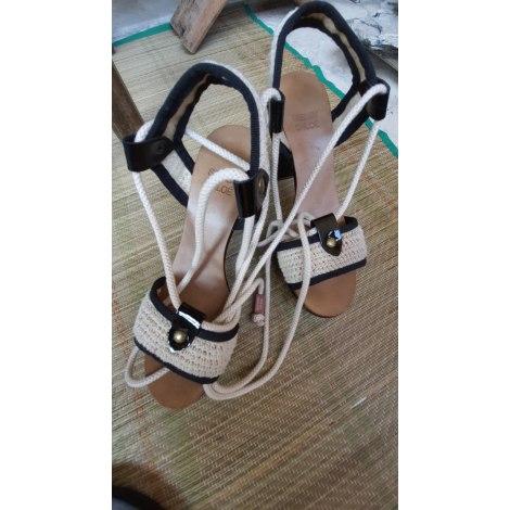 Sandales à talons SEE BY CHLOE Blanc, blanc cassé, écru