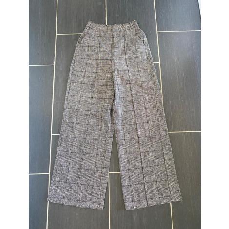 Pantalon large BERSHKA Gris, anthracite