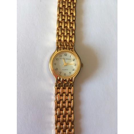Montre au poignet PATRICK ARNAUD Doré, bronze, cuivre
