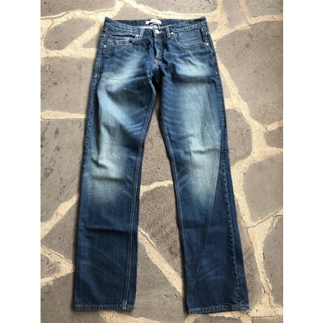 Jeans droit QUIKSILVER Bleu, bleu marine, bleu turquoise