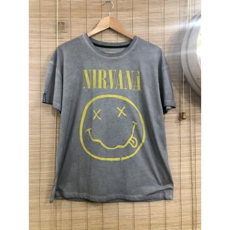 Top, tee-shirt NIRVANA Gris, anthracite