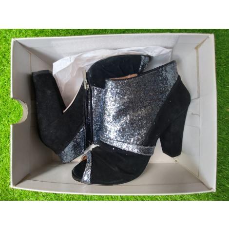 High Heel Ankle Boots COSMOPARIS Silver