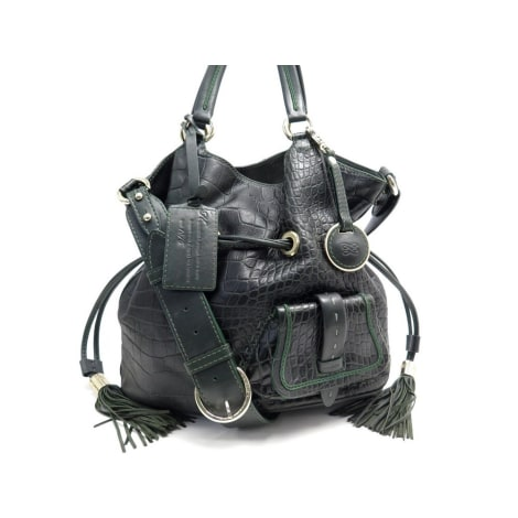 Leather Handbag LANCEL Vert