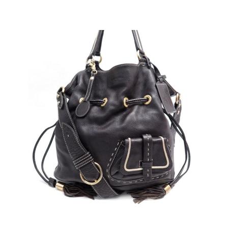 Leather Handbag LANCEL Marron