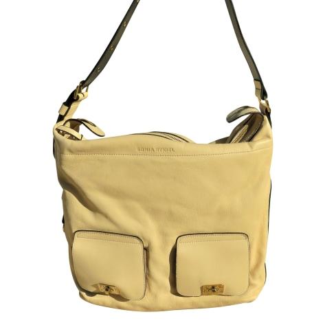 Leather Oversize Bag SONIA RYKIEL White, off-white, ecru