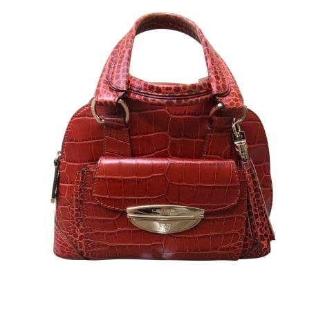 Leather Handbag LANCEL Adjani Brown